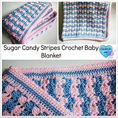 Ravelry: Sugar Candy Stripes Crochet Baby Blanket pattern by Erangi Udeshika
