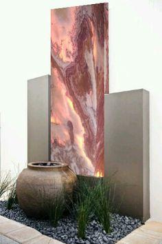 Diseño  de mural de mármol iluminado