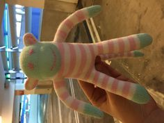 Found on 14 Jan. 2016 @ Cabot circus car park, Bristol . My son found this little guy sitting on the floor of the nearly empty car park in level four at Cabot circus, Bristol late this afternoon. He is a carefully handmade sock monkey toy and looks small... Visit: https://whiteboomerang.com/lostteddy/msg/sw3m4o (Posted by Rachel on 14 Jan. 2016)