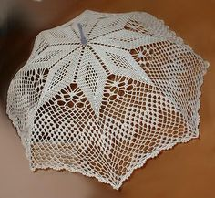Wedding Parasol In White Or Ivory Croche - Diy Crafts Thread Crochet, Filet Crochet, Crochet Doilies, Crochet Lace, Crochet Hooks, Lace Umbrella, Lace Parasol, Umbrella Wedding, Crochet Edging Patterns