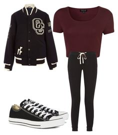 """college outfit x"" by kiernamalonex on Polyvore featuring Opening Ceremony, Topshop, James Perse, Converse, women's clothing, women, female, woman, misses and juniors"