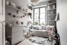 Tour a Serene and Spacious Stockholm Home with a Modern Chic Style (Nordic Design) Creative Kids Rooms, Cool Kids Rooms, Deco Kids, Gravity Home, Kids Decor, Home Decor, Decor Ideas, Baby Room Decor, Room Inspiration