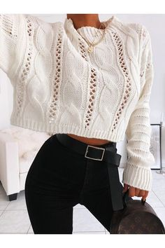 Casual Winter Outfits, Winter Fashion Outfits, Fall Outfits, Outfit Winter, Mode Outfits, Pretty Outfits, Stylish Outfits, Knit Fashion, Look Fashion