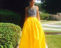 Melange Mode  Maxi Skirt
