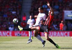 Simon Francis of AFC Bournemouth tackles Memphis Depay of Manchester United…