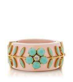 Cecil Floral Riviera Hinge Bracelet by Tory Burch Jewelry Accessories, Fashion Accessories, Fashion Jewelry, Mint Jewelry, Jewelry Box, Bling, Looks Vintage, Diamond Are A Girls Best Friend, Tory Burch