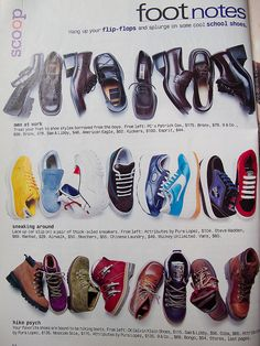 Shoes, August 1997 issue of Seventeen by huppypie, via Flickr