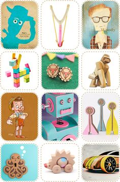 A Dozen Awesome Woody Things...  Toys, sling shots, jewellery, neurotic film icons...