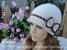 Knitting Pattern Hat Girl Pattern Knit Womens Hat por Solnishko42, $5.50