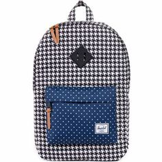 3d66c69ca0 Herschel Heritage Poly Backpack (Houndstooth Navy Polka Dot)  54.95 Herschel  Bag