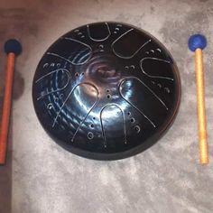 SERBATOIO DRUM handpan acciaio lingua tamburo handpan tamburo | Etsy Drum Notes, Diy Drums, Instruments, Hand Drum, D Minor, Steel Drum, High Carbon Steel, The Originals, Singing Bowl