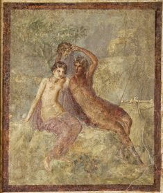 Perseus and Andromeda.  Fresco from Stabiae