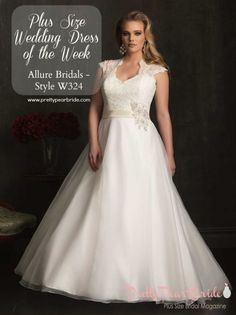 #plussize #wedding #gowns {Plus Size Wedding Dress of the Week} Allure Bridal – Style W324 | Pretty Pear Bride | http://prettypearbride.com/plus-size-wedding-dress-of-the-week-allure-bridal-style-w324/