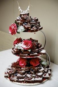 33 best Brownie wedding cake images on Pinterest   Brownie wedding     Zoe s Kitchen wedding cake brownies