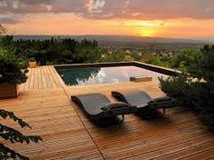 """Résultat de recherche d'images pour """"piscine semi enterree avec terrasse"""""""