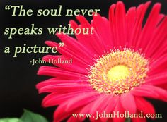 """""""The soul never speaks without a picture""""  -John Holland"""