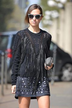 fringe on the streets in milan #mfw.