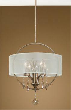 Chandelier 66 x 18 4 lights 60 watt burnished gold metal with Champagne teak crystal leaves UT169MB