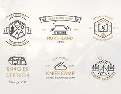 """Check out this @Behance project: """"Iconic Camping Logo Badges"""" https://www.behance.net/gallery/26190949/Iconic-Camping-Logo-Badges"""