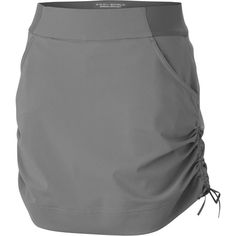 Accentuate your femininity with the fun, fashionable design of the Columbia Women's Anytime Casual Skort. Ready for warm-weather wear and casual outdoor activities, this everyday skort features an Omni-Shield DWR treatment for moisture and stain-shedding performance. Its 2-way comfort stretch brief and elastic waist keep you comfortable throughout the day without it riding or bunching up, while the ruched side tie allows for an adjustable fit. Additionally, you'll find this skort prot...
