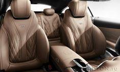 Кожаные спортивные сиденья в салоне купе Мерседес S65 AMG / Mercedes S65 AMG Coupe 2015
