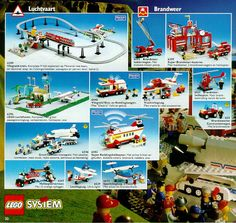 Lego City Fire Station, Classic Lego, Lego Boards, Lego Trains, Lego Minifigs, Lego Construction, Vintage Lego, Lego Storage, Lego Architecture