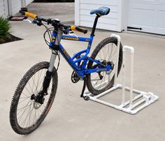 My Diy Bike Rack Made All From Pvc And Painted With Black Textures