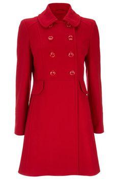 Red Peplum Coat