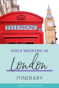 Looking for the best things to do in London on a girl's trip! Fill up your girls weekend in London bucketlist by following this post! Have afternoon tea in Kensington Palace, find the trendiest places to stay and the best photo spots, and shop till you drop! Weekend In London, European Travel Tips, London Instagram, The Perfect Girl, Things To Do In London, Girls Weekend, Europe Destinations, London Travel, Day Tours