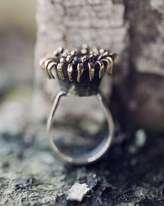 Statement Handmade Ring in Sterling Silver partial 24K от ikcha