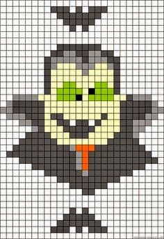 Could use this for cross stitch pattern Fuse Bead Patterns, Perler Patterns, Loom Patterns, Beading Patterns, Embroidery Patterns, Halloween Beads, Adornos Halloween, Halloween Crochet, Halloween Quilts