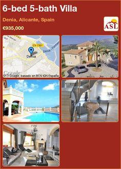 6-bed 5-bath Villa in Denia, Alicante, Spain ►€935,000 #PropertyForSaleInSpain