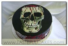 cake round skull gory halloween blood bloody gore spiderwebs horror creepshow rotten deceased dead death birthday evil dark fun funny silly realistic gross awesome scary intense
