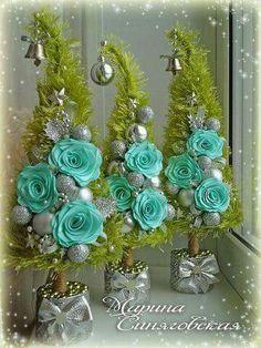New Christmas Tree Wedding Decorations Xmas Ideas Cone Christmas Trees, Xmas Tree, Winter Christmas, Christmas Holidays, Christmas Wreaths, Christmas Crafts, Christmas Decorations, Christmas Ornaments, Wedding Decorations