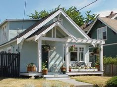 How To Design A Front Porch : Traditional Porch Idea Give The Front A Facelift And Create Some More Curb Appeal Porch With Pergola, Veranda Pergola, House With Porch, House Front, House Outside Design, Front Porch Design, Porch Designs, Pergola Designs, Pergola Ideas