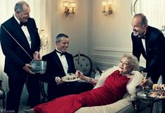 Vanity Fair May 2012 From left: Ed O'Neill, Matt LeBlanc, Betty White, and Kelsey Grammer, photographed by Norman Jean Roy.