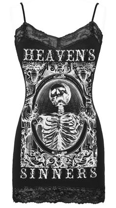 Womens Heavens Sinners Cami in Black by Se7en Deadly Sins. Up to 2X.