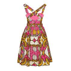 Lena Hoschek Mozambique Pink Market Dress   BACK