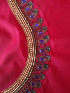 238 Best Aari Work Images In 2019 Blouse Styles Embroidery