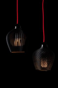 Industrial Designer Samuel Bernier designed and 3D-printed a series of intricate lampshades