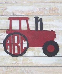 Loving this Unfinished Personalized Monogram Tractor Décor on #zulily!  #zulilyfinds •16.25'' W x 23'' H •Baltic birch plywood
