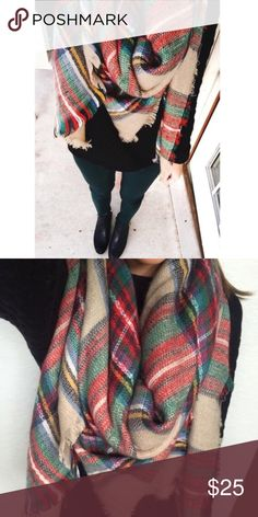 Plaid Tartan Blanket Scarf A Fall/Winter favorite! Super comfy and soft blanket scarf. Can be worn as a scarf or thrown on as a shawl. A great gift for the holidays, or a great item to treat yo self with 😉 Photos are my own. 10161  •100% Acrylic  •58x58 inches  •Price is firm - not accepting offers   ❌No trades ❌Poshmark Transactions Only ❌No asking for the lowest price Accessories Scarves & Wraps