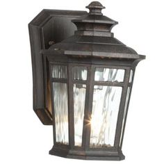 Home Decorators Collection Waterton 1-Light Dark Ridge Bronze Outdoor Wall Lantern-23121 - The Home Depot