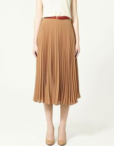 002c836e5 Accordion Pleat Skirt Zara. $79 Summer Trends #accordion pleated chiffon  skirt #accordion pleated