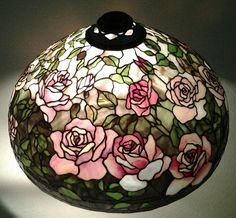 Stained glass lampshade 'Rose Garden' - Maresh