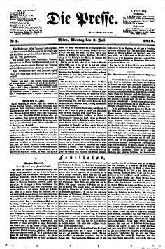 die presse, 18480703 Austria, Typography, Words, Image, Letterpress, Letterpress Printing, Horse, Fonts, Printing