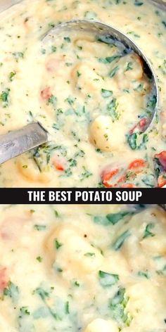 Chicken Potato Soup, Best Potato Soup, Chicken Soup Recipes, Potato Recipes, Potatoe Soup Recipe Easy, Hearty Chicken Soup, Chicken Chili, Fall Soup Recipes, Fall Dinner Recipes