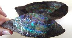 Beautiful Australian Boulder Opal Split Specimen - available in our store ......  :)