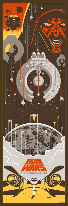 Star Wars I: The Phantom Menace, by Eric Tan #erictan #starwarsprint