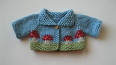 Toadstool Jacket for Waldorf Dolls by BlackberryFaerie on Etsy, $25.00
